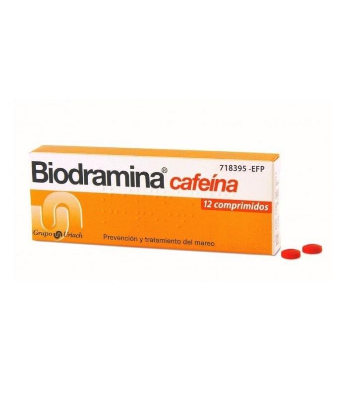 MEDICAMENTOS ONLINE - BIODRAMINA CAFEINA 12 COMPRIMIDOS -
