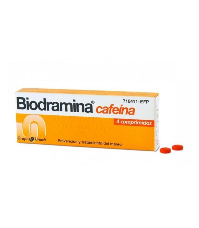 MEDICAMENTOS ONLINE - BIODRAMINA CAFEINA 4 COMPRIMIDOS -