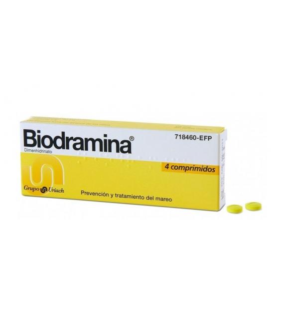MEDICAMENTOS ONLINE - BIODRAMINA 50 MG 4 COMPRIMIDOS -