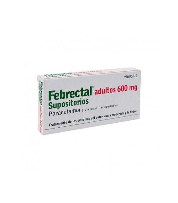 MEDICAMENTOS ONLINE - FEBRECTAL ADULTOS 600 MG 6 SUPOSITORIOS -