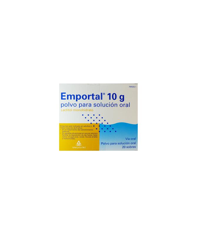 MEDICAMENTOS ONLINE - EMPORTAL 10 G 20 SOBRES POLVO SOLUCION ORAL -