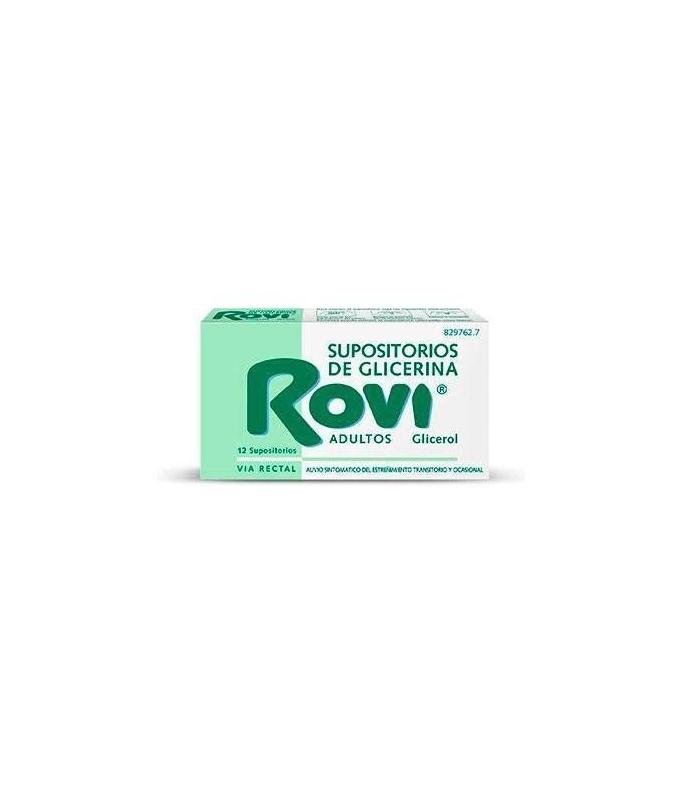 MEDICAMENTOS ONLINE - SUPOSITORIOS GLICERINA ROVI ADULTOS 3.36 G 12 UNIDADES -