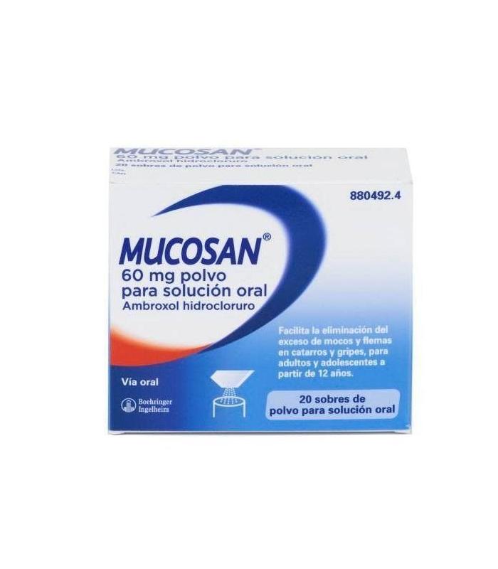 MEDICAMENTOS ONLINE - MUCOSAN 60 MG 20 SOBRES POLVO PARA SOL ORAL -