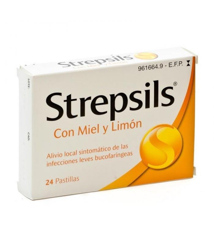 MEDICAMENTOS ONLINE - STREPSILS 24 PASTILLAS PARA CHUPAR MIEL-LIMON -