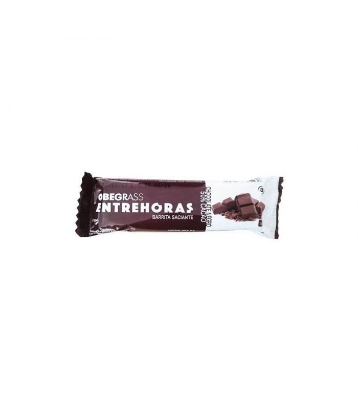 SUPLEMENTOS ALIMENTICIOS DE FARMACIA - OBEGRASS BARRITAS ENTREHORAS CHOCOLATE NEGRO 20 UNIDADES -