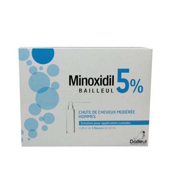 MEDICAMENTOS ONLINE - MINOXIDIL BIORGA 50 MG/ML 3X60 ML -