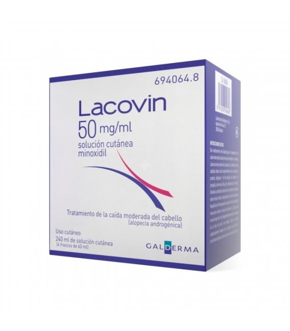 MEDICAMENTOS ONLINE - LACOVIN MINOXIDIL 5% SOLUCION CUTANEA 50 MG/ML 4X60 ML -