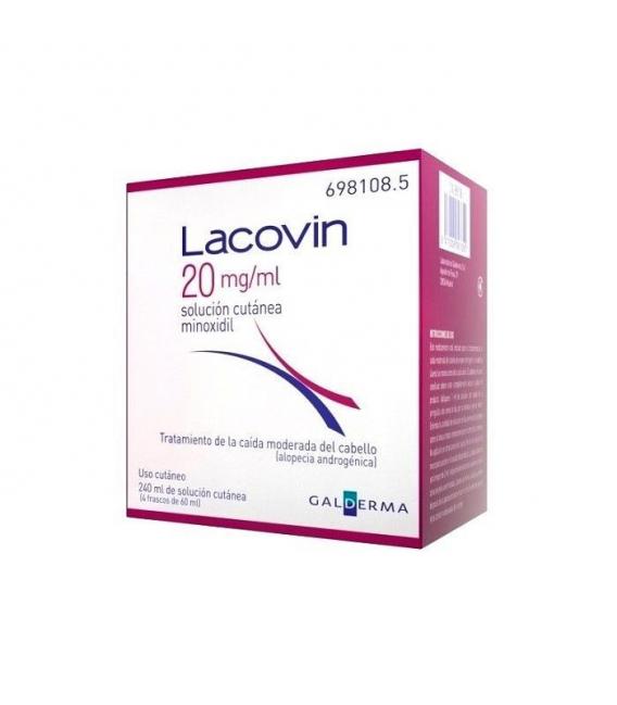 MEDICAMENTOS ONLINE - LACOVIN MINOXIDIL SOLUCION CUTANEA 20 MG/ML 4X60 ML -
