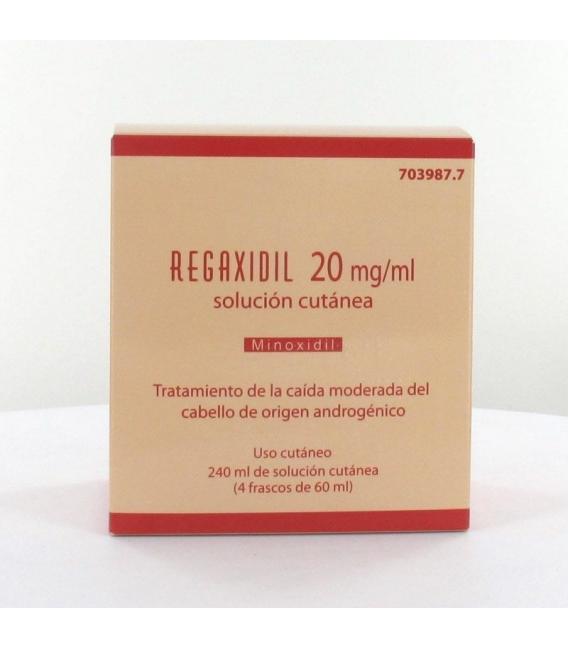 MEDICAMENTOS ONLINE - REGAXIDIL 20 MG/ML SOLUCION CUTANEA 240 ML (4 FRASCOS DE 60 ML) -