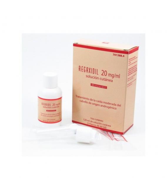MEDICAMENTOS ONLINE - REGAXIDIL 20 MG/ML SOLUCION CUTANEA 120 ML (2 FRASCOS DE 60 ML) -