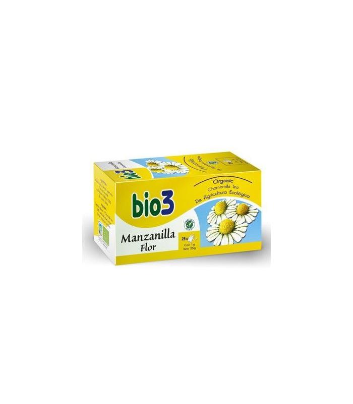 INFUSIONES - BIO3 MANZANILLA ECOLOGICA FLOR 25 BOLSITAS -