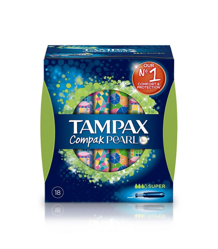 TAMPONES - TAMPONES TAMPAX COMPAK PEARL SUPER 18 UNIDADES -