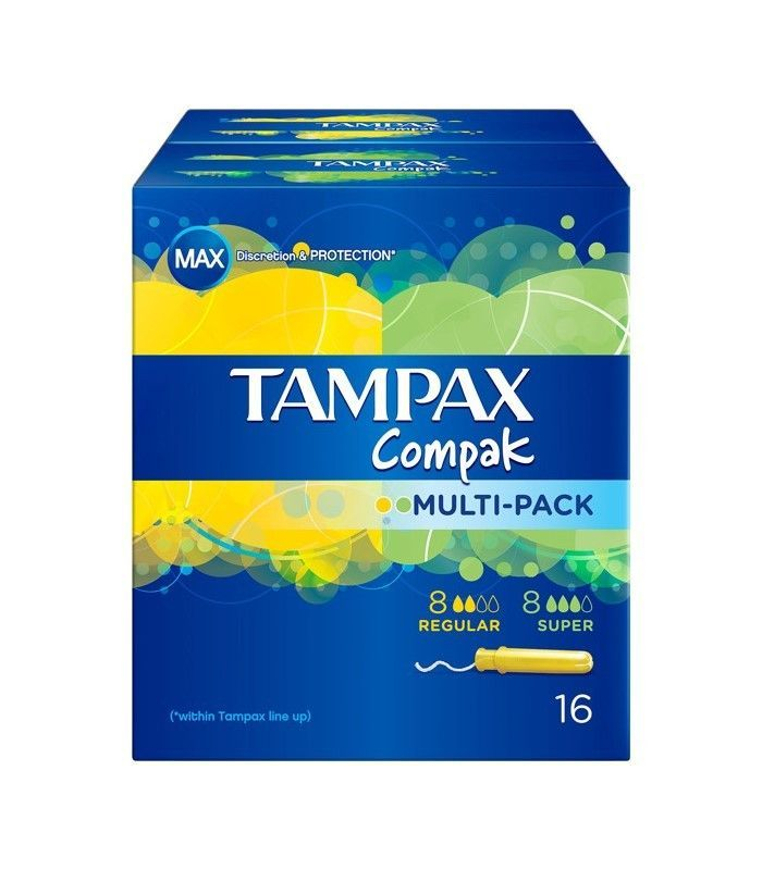 TAMPONES TAMPAX COMPAK MULTIPACK 8+8 UNIDADES