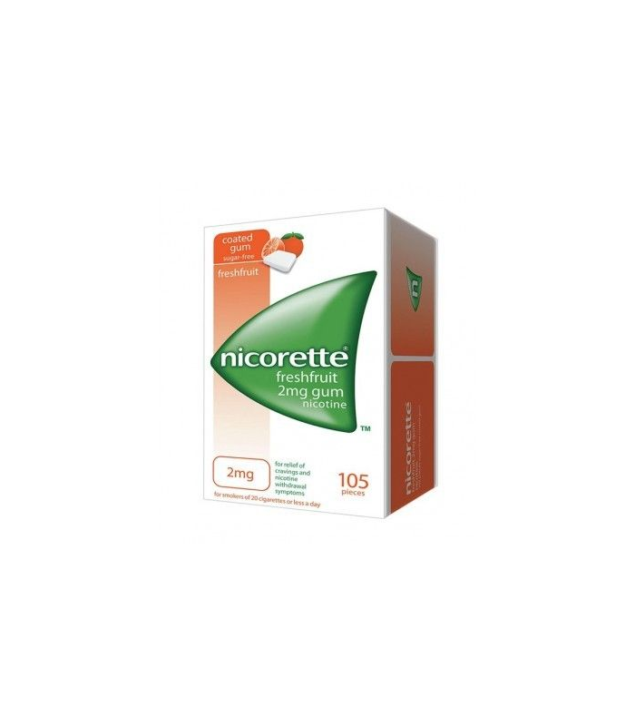 MEDICAMENTOS ONLINE - NICORETTE FRESHFRUIT 2 MG 105 CHICLES -