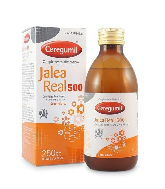 ANTIFATIGA - CEREGUMIL JARABE JALEA REAL 500 CON VITAMINAS 250 ML -