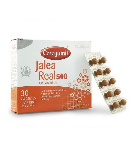 COMPLEMENTOS ALIMENTICIOS - CEREGUMIL JALEA REAL 500 CON VITAMINAS 30 CAPULAS -