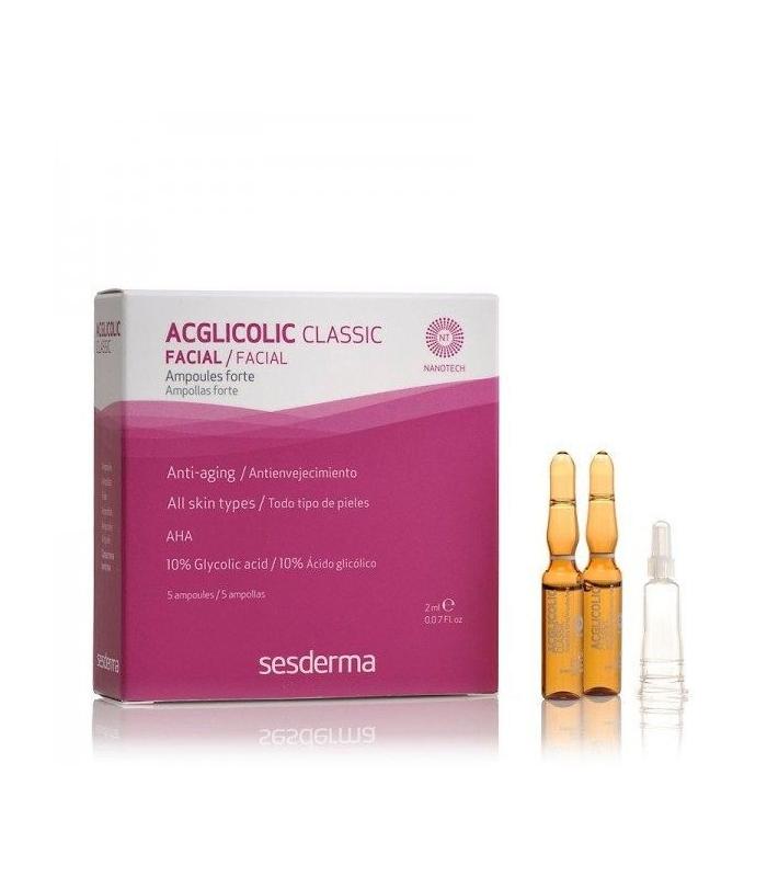 SESDERMA CLASSIC ACGLICOLIC FORTE 5 AMPOLLAS 2 ML
