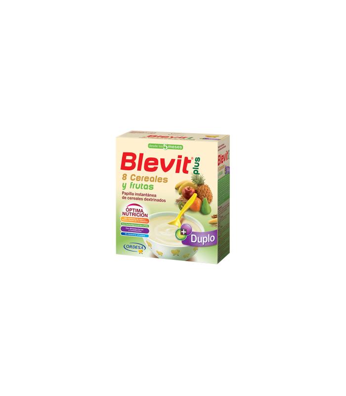 PAPILLAS - BLEVIT PLUS DUPLO 8 CEREALES + FRUTA 600 GR -
