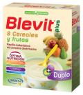 BLEVIT PLUS DUPLO 8 CEREALES + FRUTA 600 GR