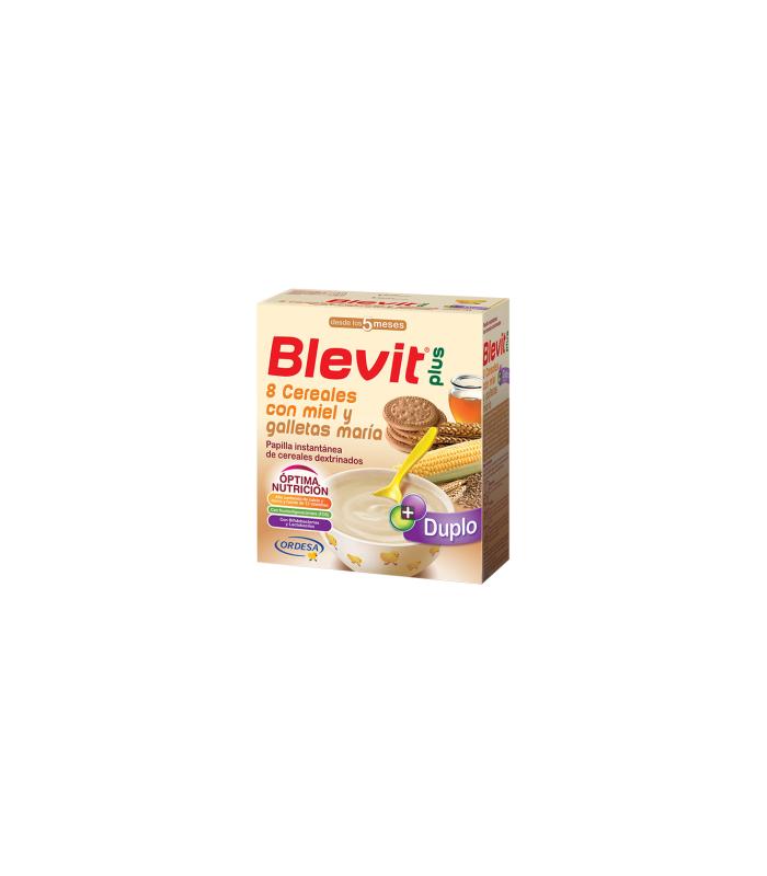 PAPILLAS - Blevit Plus Duplo 8 Cereales Miel-Galletas 600 Gramos -