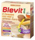 Blevit Plus Duplo 8 Cereales Miel-Galletas 600 Gramos
