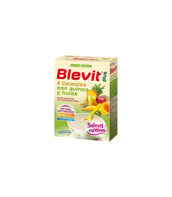 PAPILLAS - Blevit Plus Puré 8 Cereales con Quinoa y Frutas 300 g -