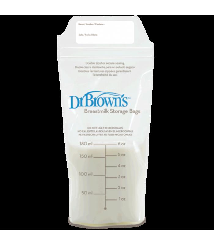 Accesorios de Bebé - Bolsas de Conservación Leche Materna Dr Browns 180 ml 25 Uds -