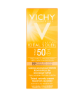 PROTECCIÓN FACIAL - Vichy Ideal Soleil BB SPF50+ Emulsión Tacto Seco 50 ml -