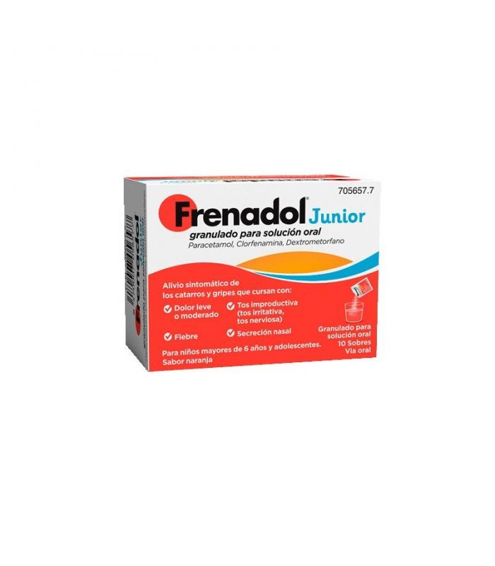 MEDICAMENTOS ONLINE - FRENADOL JUNIOR 10 SOBRES SABOR NARANJA -