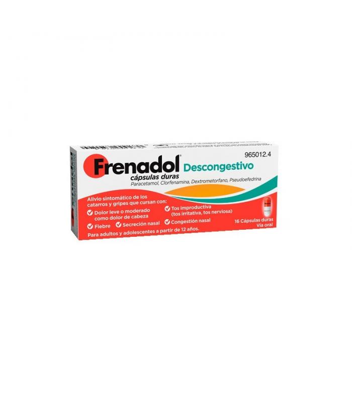MEDICAMENTOS ONLINE - FRENADOL DESCONGESTIVO 16 CAPSULAS -