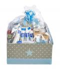 Canastillas de Bebé - Canastilla bebé Premium en azul -