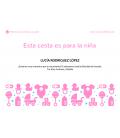 Canastilla Set Bienvenida Bebé Recién Nacido en Rosa