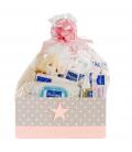 Canastilla Bebé Super Pack Mustela en Rosa