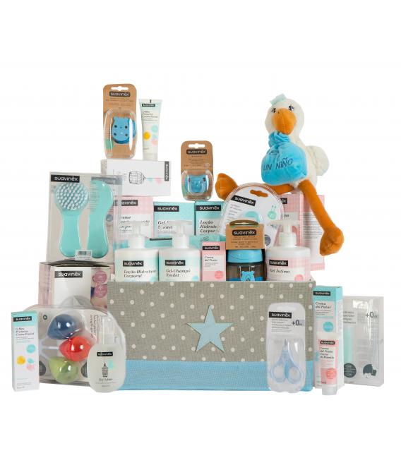 Canastillas de Bebe - Canastilla Baby Shower para Bebé y Mamá (Azul)