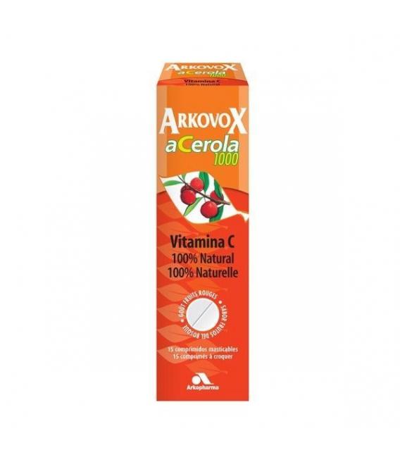 ANTIFATIGA - Arkovox Acerola 1000 15 Comprimidos Masticables -