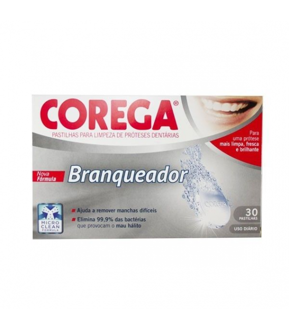 PRÓTESIS DENTALES - Corega Blanqueador 30 Tabletas Efervescentes -