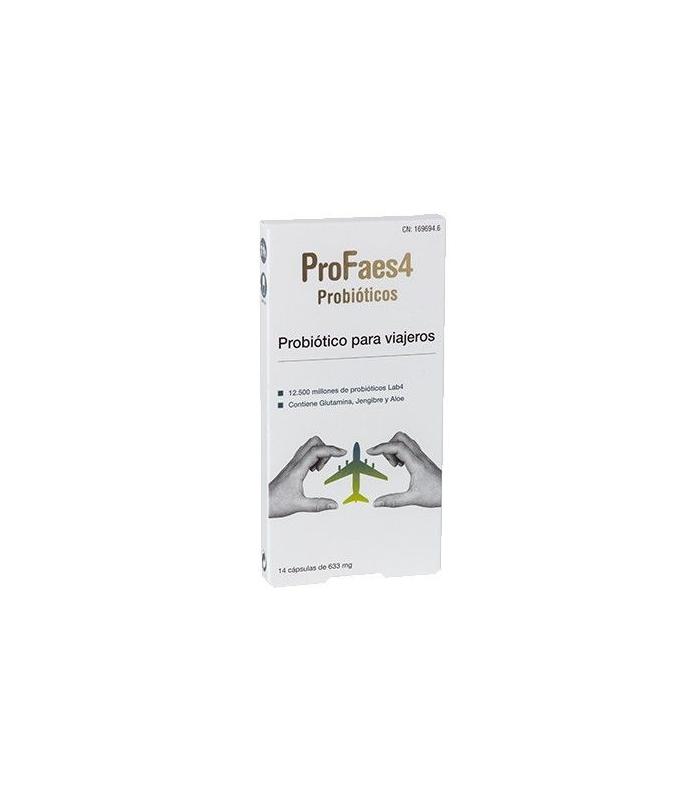 CUIDADO DIGESTIVO - Profaes4 Probióticos para Viajeros 14 Cápsulas -